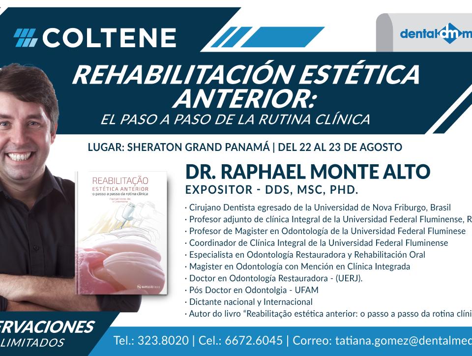 Rehabilitación Estética anterior con el Dr. Raphael Monte Alto.